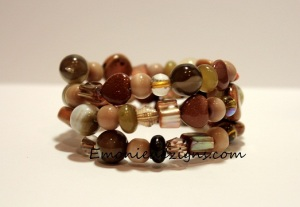 shades of Earth Wrap Bracelet