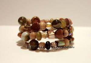 shades of Earth Wrap Bracelet