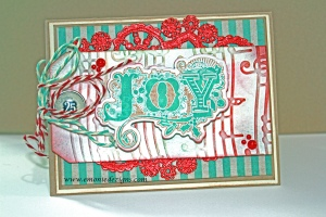 I love the simple embossing and distress Christmas Card
