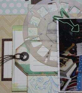 This layout was a great way to layer and I like the mix of vellum embellishments.